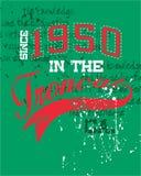 Diseño de la camiseta de los deportes Fotografía de archivo libre de regalías