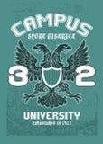 Diseño de la camiseta del águila del campus Fotos de archivo