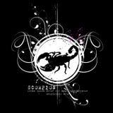 Diseño de la camiseta del escorpión Fotografía de archivo