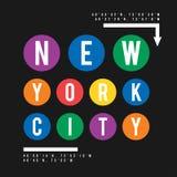 Diseño de la camiseta en el concepto de subterráneo de New York City Tipografía fresca con para la impresión de la camisa Gráfico libre illustration
