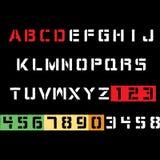 Diseño de la camiseta de la tipografía del alfabeto fotos de archivo
