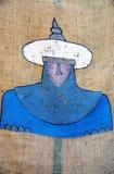 Diseño de la cara de musulmanes Fotos de archivo libres de regalías