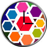 diseño de la cara de reloj Imagen de archivo