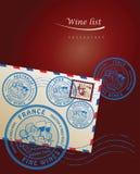 Diseño de la carta de vinos Fotografía de archivo libre de regalías