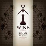 Diseño de la carta de vinos Imágenes de archivo libres de regalías