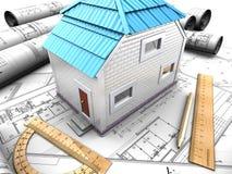 Diseño de la casa Foto de archivo libre de regalías