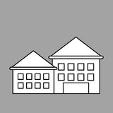 Diseño de la ciudad icono del edificio Ilustración aislada Foto de archivo
