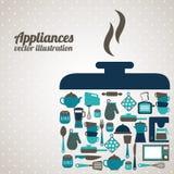 Diseño de la cocina Fotos de archivo