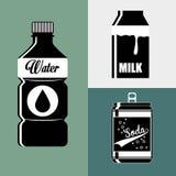 Diseño de la colección de las bebidas Fotos de archivo