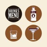 Diseño de la colección de las bebidas Imagen de archivo