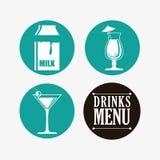 Diseño de la colección de las bebidas Fotografía de archivo libre de regalías