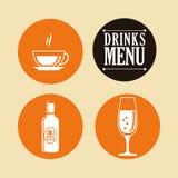 Diseño de la colección de las bebidas Fotos de archivo libres de regalías