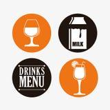 Diseño de la colección de las bebidas Foto de archivo