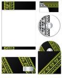 Diseño de la compañía con las pistas del neumático Fotos de archivo