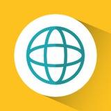 Diseño de la comunicación global de la esfera ilustración del vector