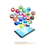 Diseño de la comunicación móvil Imágenes de archivo libres de regalías