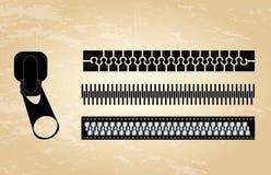 Diseño de la cremallera stock de ilustración