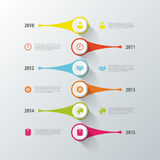 Diseño de la cronología de Infographic Modelo moderno Vector Imágenes de archivo libres de regalías