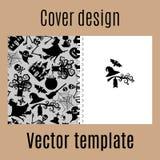 Diseño de la cubierta con el modelo de Halloween stock de ilustración