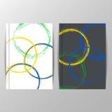 Diseño de la cubierta con los elementos coloreados y los círculos Imagen de archivo