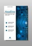 Diseño de la cubierta de HUD con diseño de la tecnología Vector Imagenes de archivo