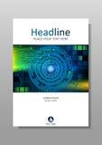 Diseño de la cubierta de HUD con diseño de la tecnología Vector Fotografía de archivo