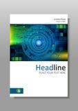 Diseño de la cubierta de HUD con diseño de la tecnología Vector Imágenes de archivo libres de regalías