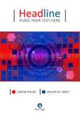 Diseño de la cubierta de HUD del rojo azul Vector Fotos de archivo