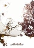 Diseño de la cubierta de la escena de la naturaleza stock de ilustración