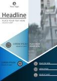 Diseño de la cubierta de libro A4 Diario académico, revista Illustr del vector Foto de archivo