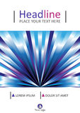 Diseño de la cubierta de libro en líneas azules Tamaño A4 Vector Imagenes de archivo