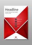 Diseño de la cubierta de libro en rojo Diarios académicos Vector Imagenes de archivo
