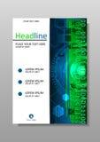 Diseño de la cubierta de libro A4 HUD Vector Fotos de archivo libres de regalías