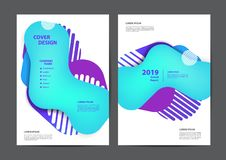 Diseño de la cubierta del folleto del folleto del aviador del cartel stock de ilustración