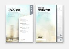 Diseño de la cubierta, del folleto o del aviador del informe anual del negocio corporativo Imagen de archivo