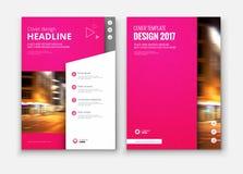 Diseño de la cubierta, del folleto o del aviador del informe anual del negocio corporativo Foto de archivo