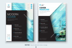 Diseño de la cubierta, del folleto o del aviador del informe anual del negocio corporativo Presentación del prospecto Catálogo co Foto de archivo