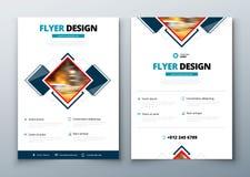 Diseño de la cubierta, del folleto o del aviador del informe anual del negocio corporativo Presentación del prospecto Catálogo co Foto de archivo libre de regalías
