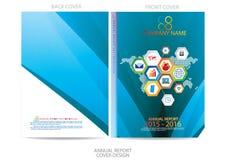 Diseño de la cubierta del informe anual Foto de archivo