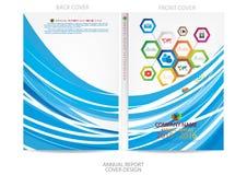Diseño de la cubierta del informe anual Fotografía de archivo libre de regalías