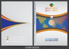 Diseño de la cubierta del informe anual Fotos de archivo libres de regalías