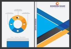 Diseño de la cubierta del informe anual Foto de archivo libre de regalías
