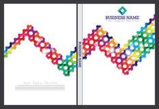Diseño de la cubierta del informe anual Imagenes de archivo