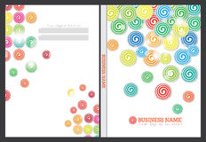 Diseño de la cubierta del informe anual Fotografía de archivo