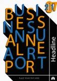Diseño de la cubierta del informe anual del negocio Vector Imagen de archivo libre de regalías