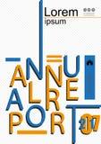 Diseño de la cubierta del informe anual Informe de asunto Vector Fotos de archivo