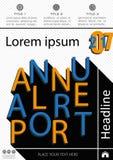 Diseño de la cubierta del informe anual Informe de asunto Vector Imagen de archivo