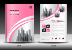 Diseño de la cubierta del informe anual, plantilla del aviador del folleto, anuncio de negocio, perfil de compañía libre illustration