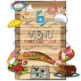 Diseño de la cubierta del menú Imagen de archivo libre de regalías