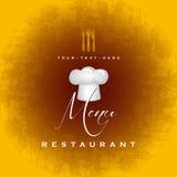 Diseño de la cubierta del menú del restaurante - plantilla del vector Imágenes de archivo libres de regalías